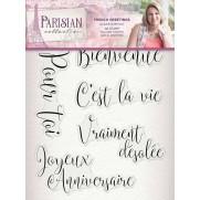 Parisian Étampe Souhaits en Français
