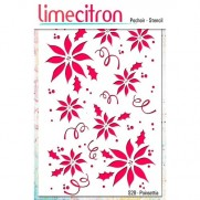 Limecitron stencil Poinsettia