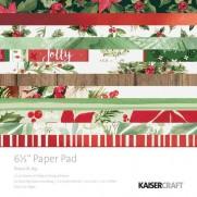 "Kaisercraft Pad 6.5""X6.5"" Peace & Joy"