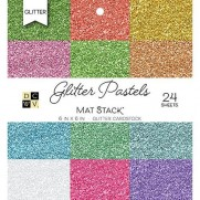 "DCWV Cardstock pad 6""X6"" Glitter Pastels Solid"