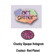 Art Glitter Chunky Holo. Red Planet