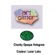 Art Glitter Chunky Holo. Lunar lake