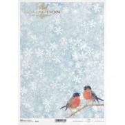 ITD Collection Papier de Riz Oiseaux & Flocons