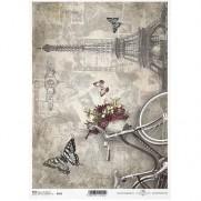 ITD Collection Papier de Riz Tour Eiffel & Vélo