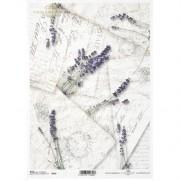 ITD Collection Papier de riz Lavande Style Rétro