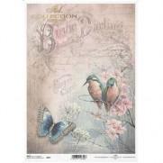 ITD Collection Papier de Riz Oiseaux & Papillon