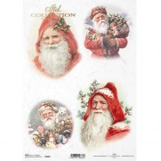 ITD Collection Papier de Riz Santa Claus 2
