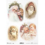ITD Collection Papier de Riz Santa Claus