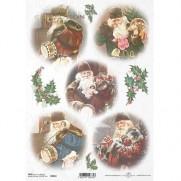 ITD Collection Papier de Riz Santa vintage