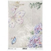 ITD Collection Papier de Riz Papillons Rétro