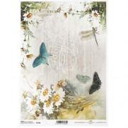 ITD Collection Papier de Riz Papillons & Marguerites