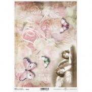ITD Collection Papier de Riz Chérubins & Papillons