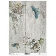 ITD Collection Papier de Riz Papillons bleus