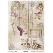 ITD Collection Papier de Riz Cage & Papillon