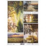 ITD Collection Papier de Riz Paysages au Lac