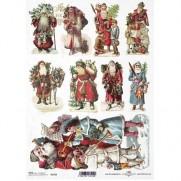 ITD Collection Papier de Riz Père Noël Vintage