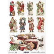 ITD Collection Papier de Riz Père Noël anciens