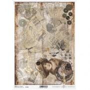 ITD Collection Papier de Riz Journal Steampunk