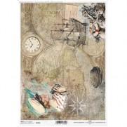 ITD Collection Papier de Riz Navigation vintage