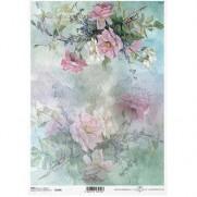 ITD Collection Papier de Riz Fleurs roses