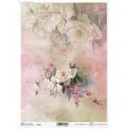 ITD Collection Papier de Riz Bouquet de Roses