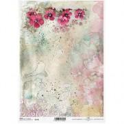 ITD Collection Papier de Riz Fleurs Pastel