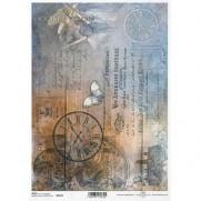 ITD Collection Papier de Riz Horloges Steampunk
