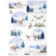 ITD Collection Papier de Riz Animaux de la Forêt 2