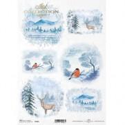 ITD Collection Papier de Riz Vues hivernales