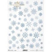 ITD Collection Papier de Riz Flocons Bleus