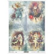 ITD Collection Papier de Riz Pierrot & Colombine