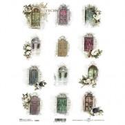 ITD Collection Papier de Riz Portes Fleuries