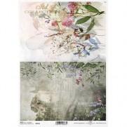ITD Collection Papier de Riz Maison & Fleurs