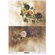 ITD Collection Papier de Riz Bouquet de Fleurs