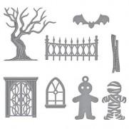 Spellbinders Shapeabilities Cottage Effrayant Halloween
