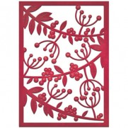Spellbinders Nestabilities Card Creator Mistletoe Card Front