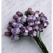 Wild Orchid Craft Fleurs Rosebuds Purple Tone