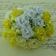 WOC Fleurs Wild Roses Blanches/Crèmes/Jaunes
