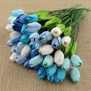 Wild Orchid Craft Fleurs Tulipes mixtes bleues