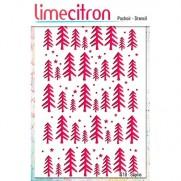 Limecitron stencil Sapins