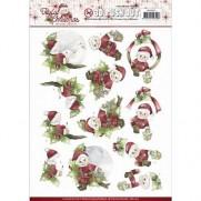Marieke 3D Images Santa sur une branche
