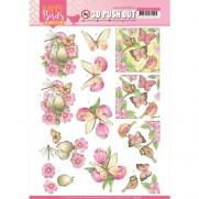 Amy Design 3D Images Oiseaux & Papillons en Rose
