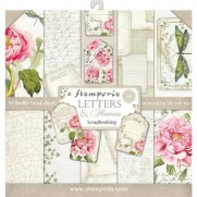 "Stamperia Pad 12"" x 12"" Lettres & Fleurs"