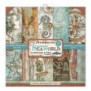 """Stamperia Ensemble 12"""" x 12"""" Monde marin"""