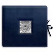 Album à anneaux bleu