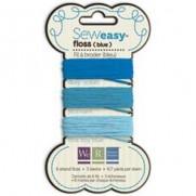 Sew Easy Fil à broder Bleu