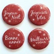 Limecitron Badges Souhaits rouge
