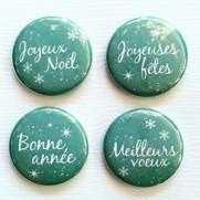 Limecitron Badges Souhaits turquoise
