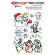 Étampe Stampendous Cadeau Pingouins