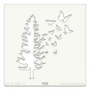 Groovi Stencil Arbres & Papillons